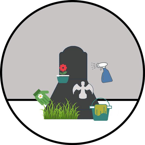 Nettoyage complet de tombe