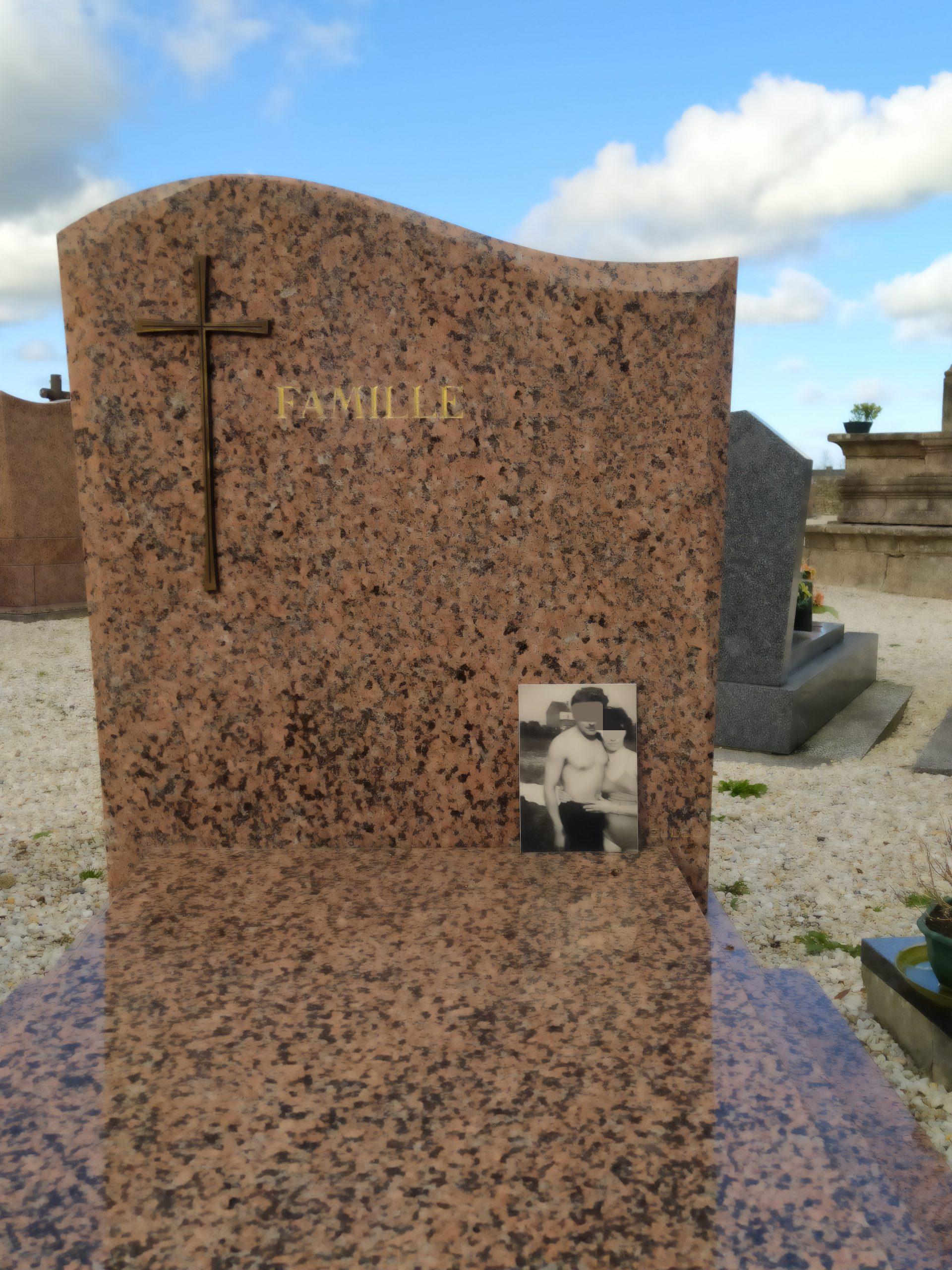 plaque funéraire photo